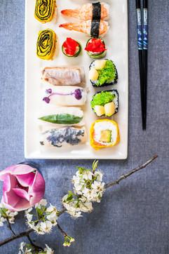 Rice paper and Sushi Deluxe