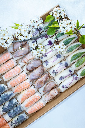 Assorted Rice Paper Rolls Large - Boxed                          (Free Delivery)