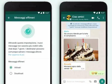 Whatsapp, arriva la svolta clamorosa: i messaggi sono a tempo!