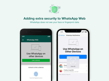 WhatsApp Web richiede l'autenticazione biometrica