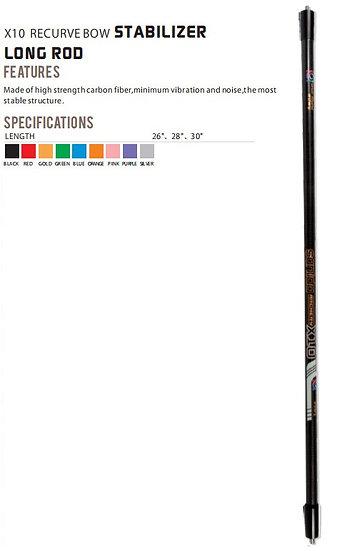 Recurve X10 Stabiliser (Long Rod)