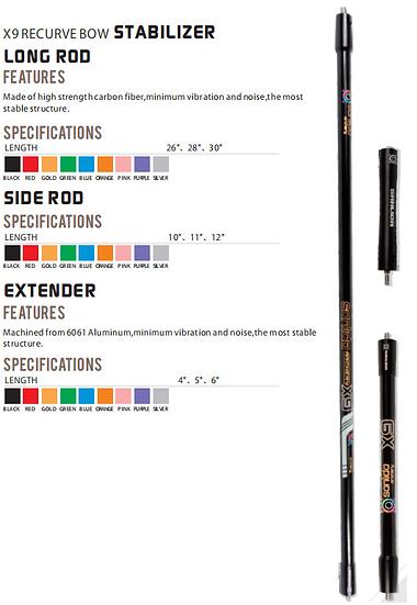 X9 Recurve Stabiliser Set