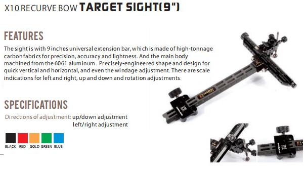 X10 Recurve Bow Sight