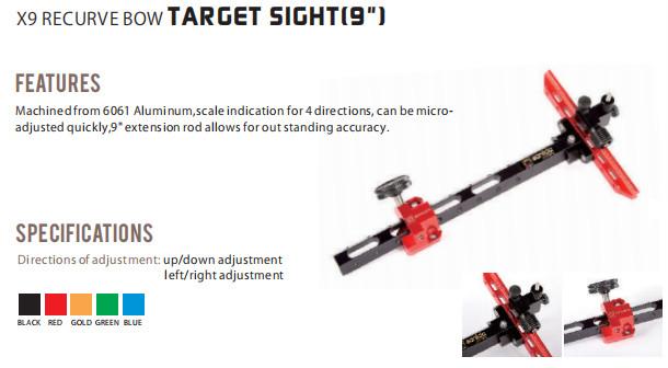 X9 Recurve Bow Sight