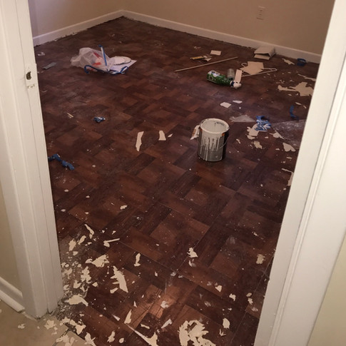 Bedroom Flooring  |  BEFORE