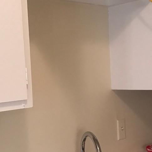 Kitchen sink lighting  |  BEFORE