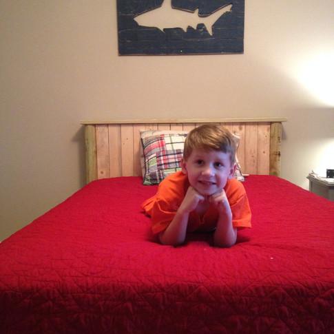 Custom Rustic Pine Bed