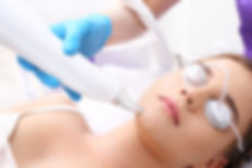 Laser removal of skin discoloration.Cosm