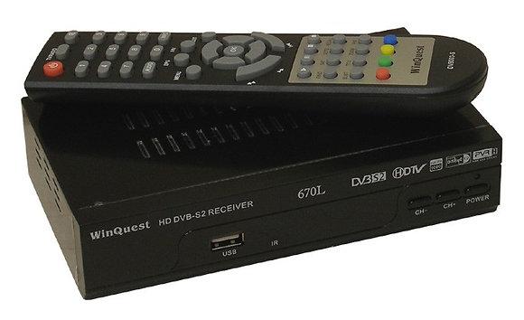 Спутниковый ресивер с поддержкой формата MPEG4 (HD)- Winquest 670L