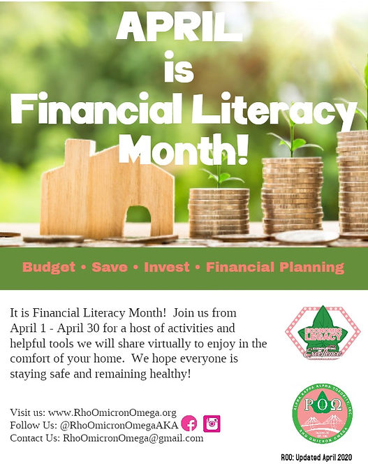 Financial Literacy Month 2020 - Target 3