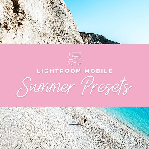 PRESETS Summer Pack | Lightroom Mobile {English}