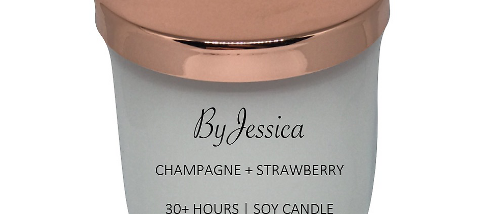 Champagne + Strawberry Candle