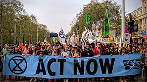 Extinction Rebellion activists in London engage in mass civil disobedience to protest UK government's inaction on climate change