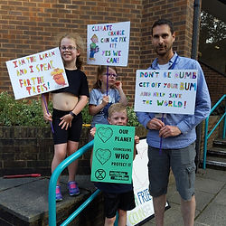 Young Extinction Rebellion protestors call on Guildford Borough Council to declare a climate emergency