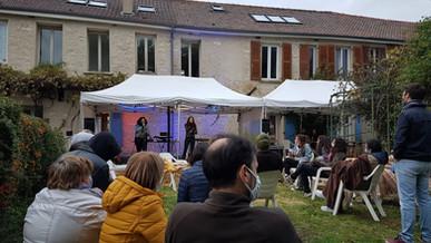 Concert dans le jardin