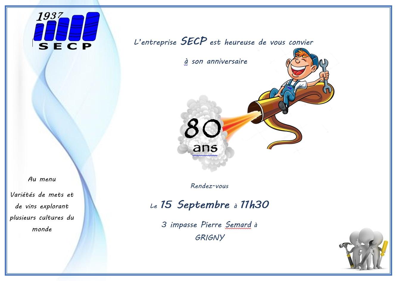 Invitation 80 ans