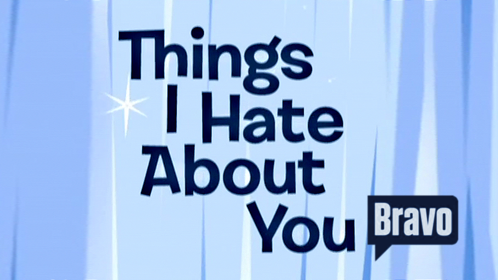 THINGS I HATE ABOUT YOU . Logo desig