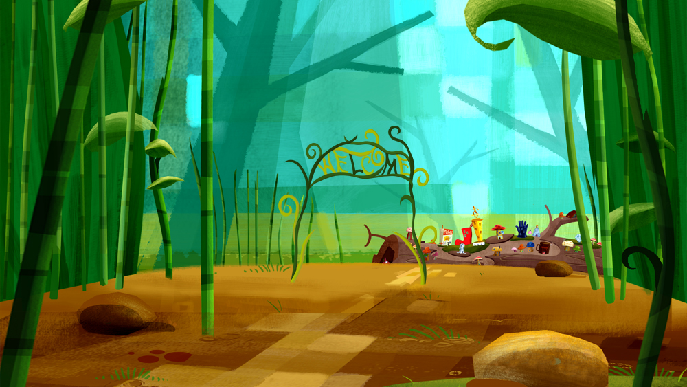 SKITTERVILLE . Background design