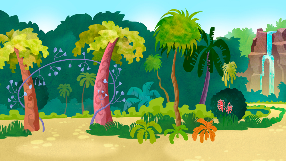 Background design . Nickelodian show