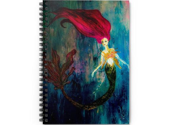 Mermaid Spiral Notebook - Ruled Line