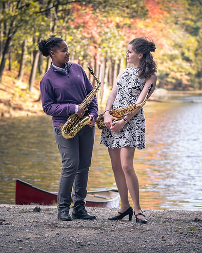Julia Maloof and Emma Dodi Saxophonists