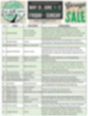 2019 Oak Hill Garage Sale List (updated