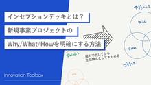 インセプションデッキとは?新規事業プロジェクトのWhy/What/Howを明確にする方法。
