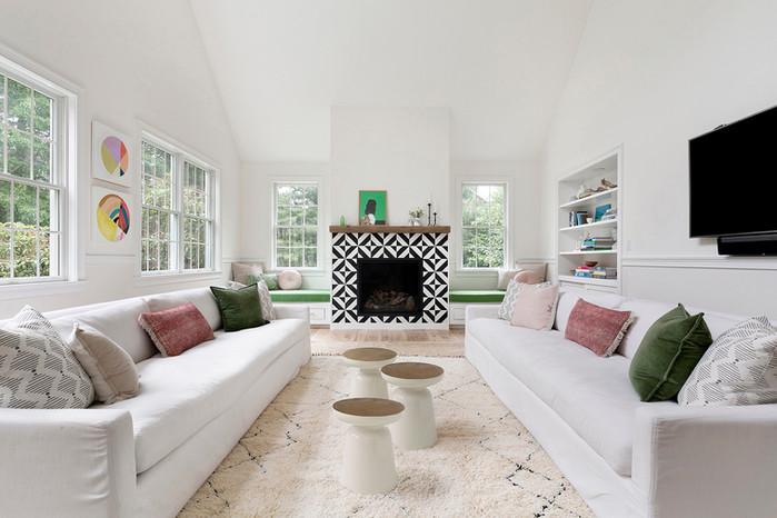 hamptons living room design