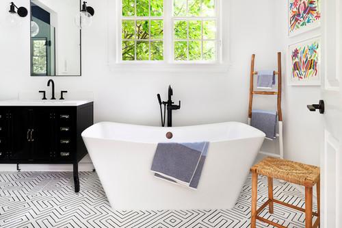 hamptons bathroom design