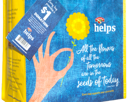 Down East Hospice Volunteers Selected by The Hannaford May's Community Bag Program.