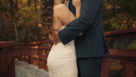 Joshua & Jenn - Bridge Kiss