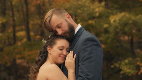 Joshua & Jenn - First Look Hug