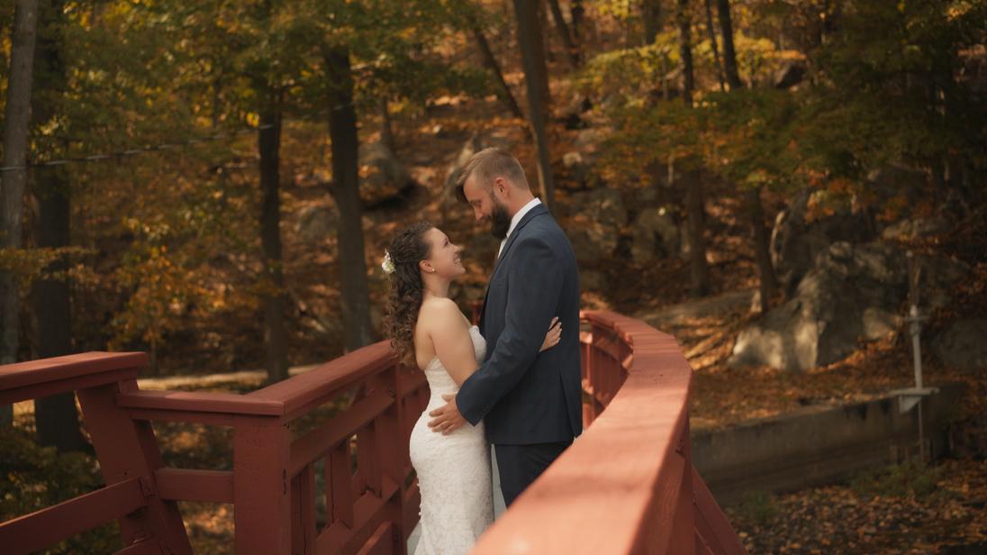 Joshua & Jenn - First Look Bridge
