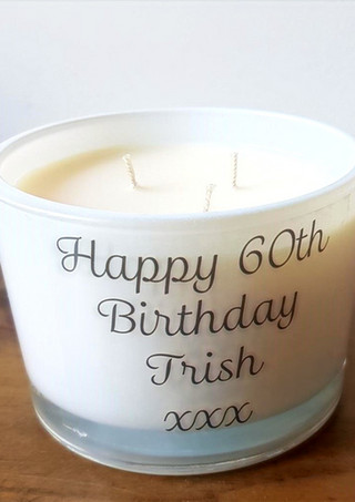 Personalised Candle Decal