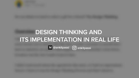 Design Thinking Implementation - Medium Article