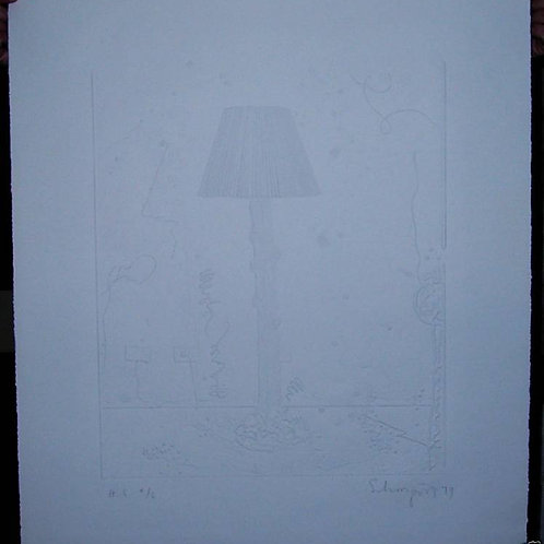 BEN SCHOENZEIT ~ 1979 ORIG. LTD. ED. ETCHING SIGN
