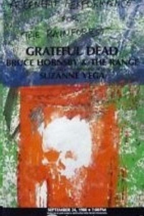 GRATEFUL DEAD POSTER 1988 BENEFIT CONCERT MADISON