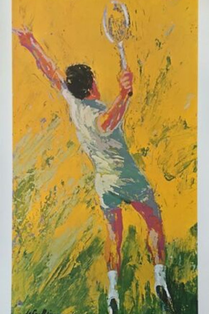LEROY NEIMAN - TENNIS - PLATE SIGNED 69 - 30 X 17 1/2 INCHES