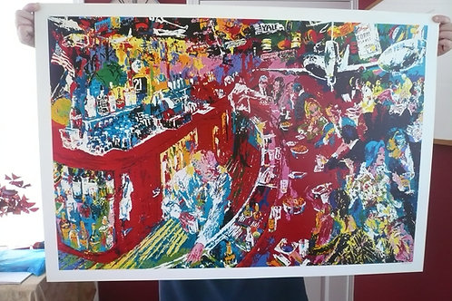 LeRoy Neiman 21 Club Plate Signed Poster