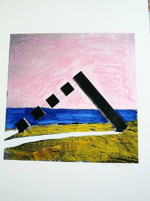 ISRAELI ARTIST~MENASHE KADISHMAN~ Orig. Ltd. Ed. Print