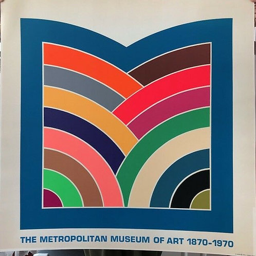 FRANK STELLA - METROPOLITAN MUSEUM OF ART 1870-1970 POSTER