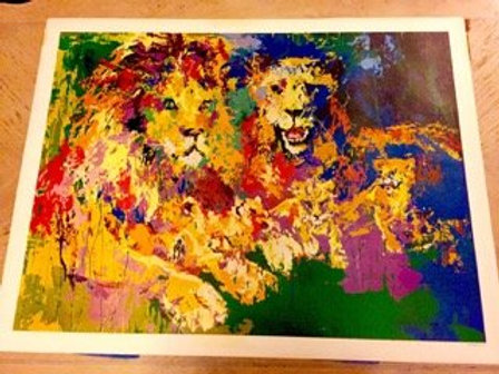 LEROY NEIMAN LIONS PRIDE 1977 POSTER