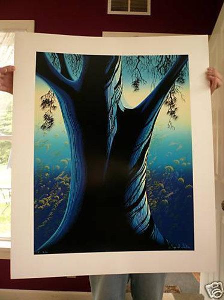 Eyvind Earle Blue Pine Original Ltd Ed Signed
