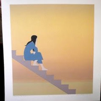 WILL BARNET ~ STAIRWAY TO THE SEA ~ ORIG. LTD. ED