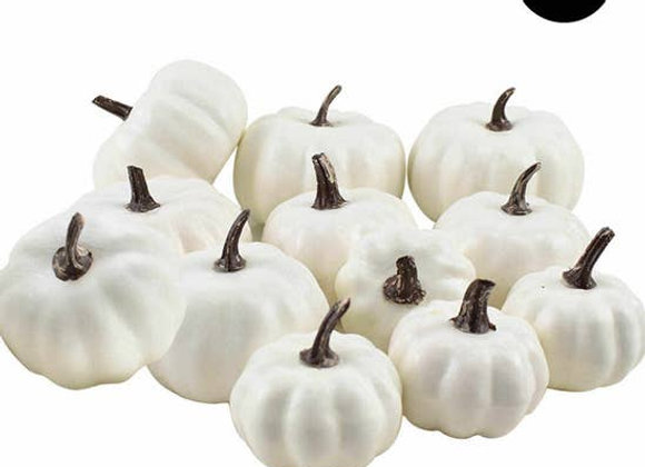 Decorative White Pumpkin