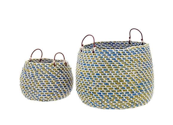 Woven Blue Basket (Set of 2)
