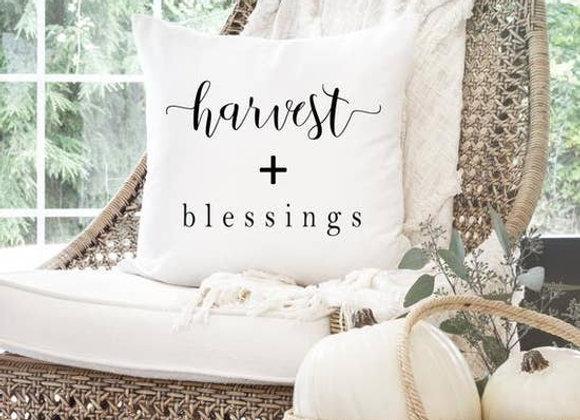 Harvest + Blessings Pillow Cover