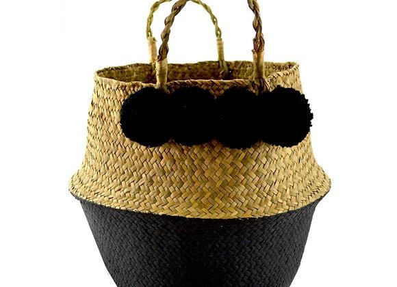 Pom Pom Basket Black