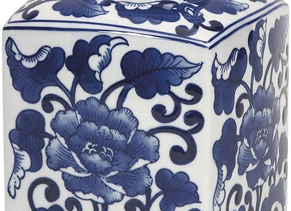 Blue & White Round Ginger Jar