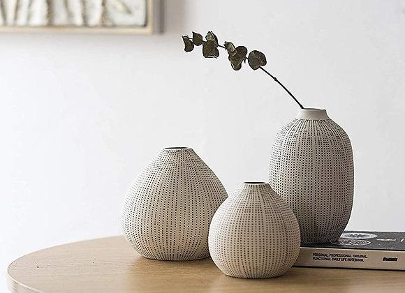 Boho Stoneware Vase (Set of 3)